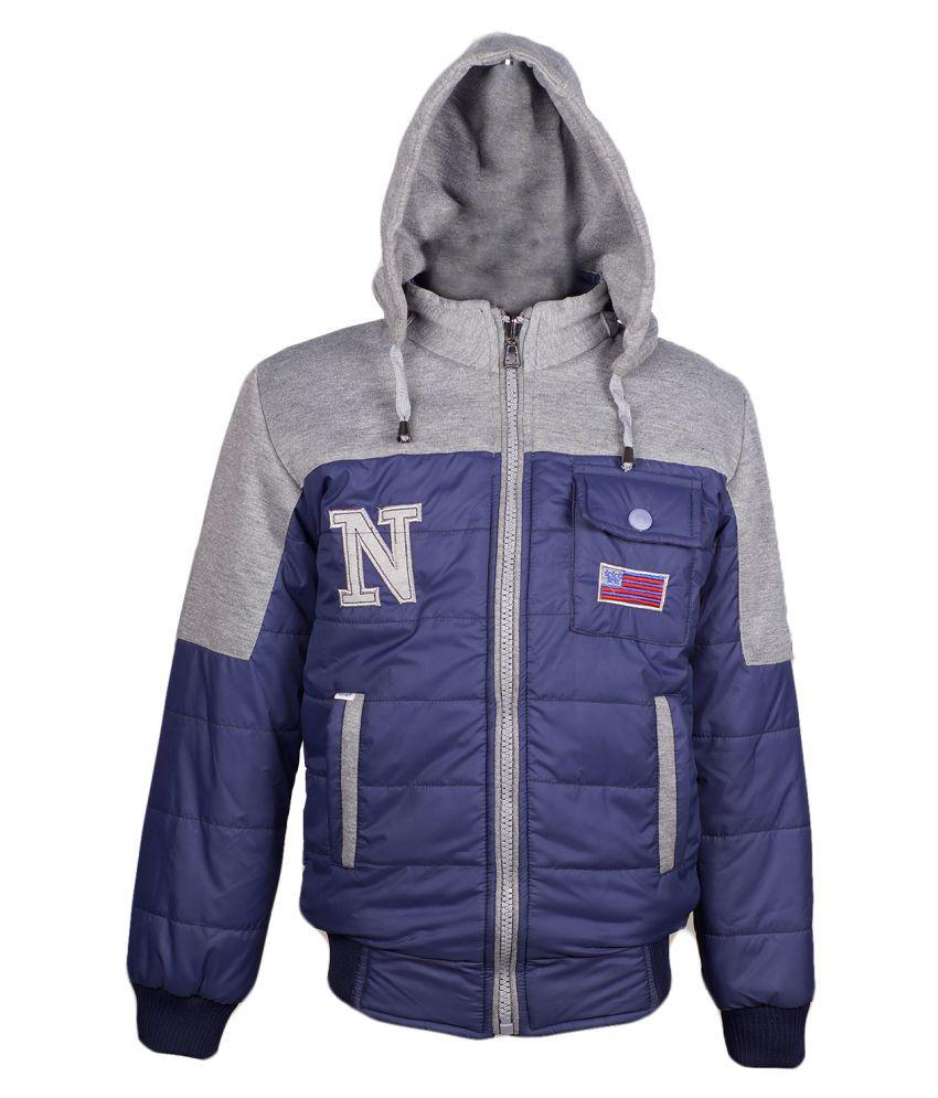 Naughty Ninos Girls Blue Reversible Jacket