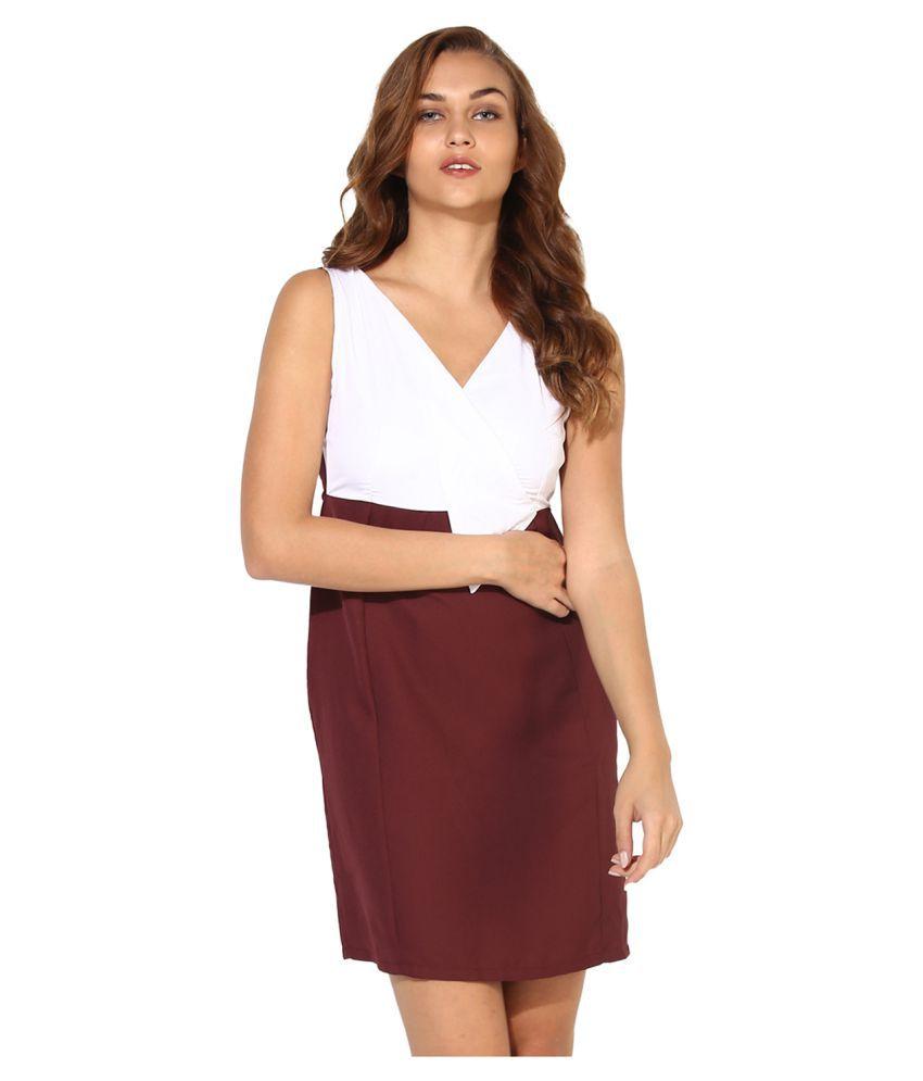 HEATHER HUES Cotton Multi Color Sheath Dress