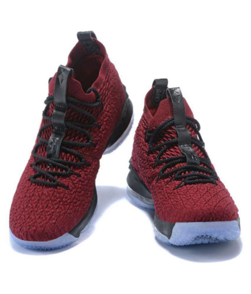 f97058ceaed Nike Lebron 15 Midankle Male Red  Buy Online at Best Price on Snapdeal
