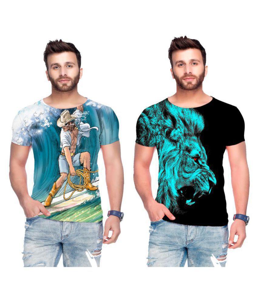 Raves Multi Half Sleeve T-Shirt Pack of 2