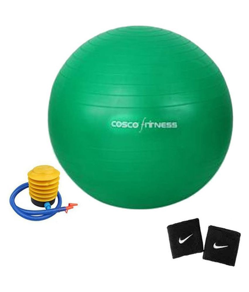 Cosco Gym Ball 75 Cm. + 1 Foot Pump With 2 Wrist Band