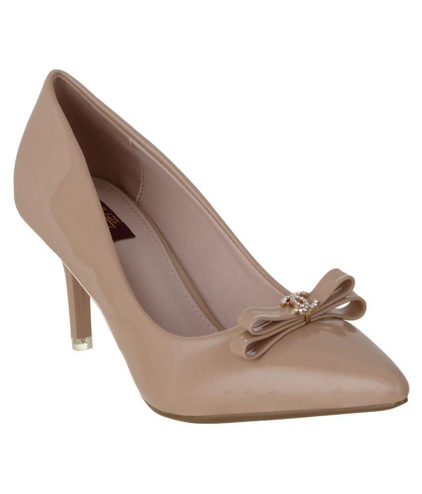 Shuz Touch Beige Stiletto Heels
