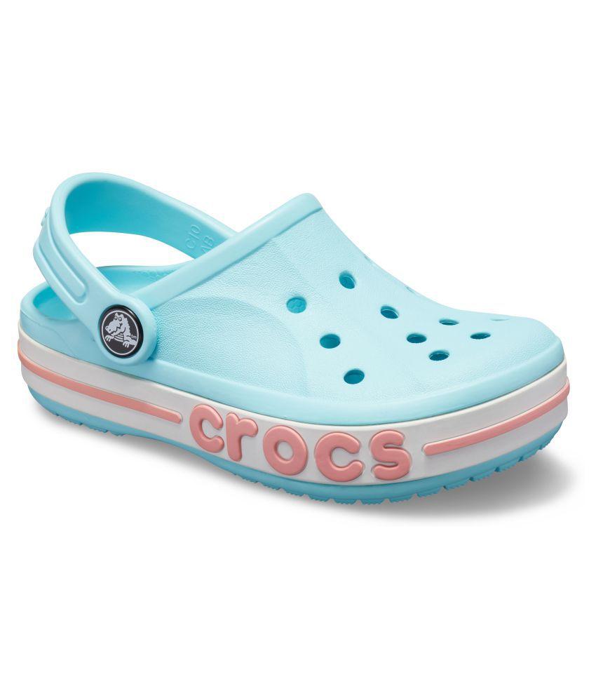 278edafbe Crocs Kids Blue Bayaband Clogs 205100-4O9 Price in India- Buy Crocs Kids  Blue Bayaband Clogs 205100-4O9 Online at Snapdeal