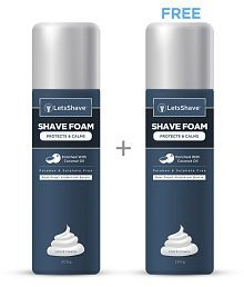 LetsShave 1 +1 Free Shaving Foam 200 gm