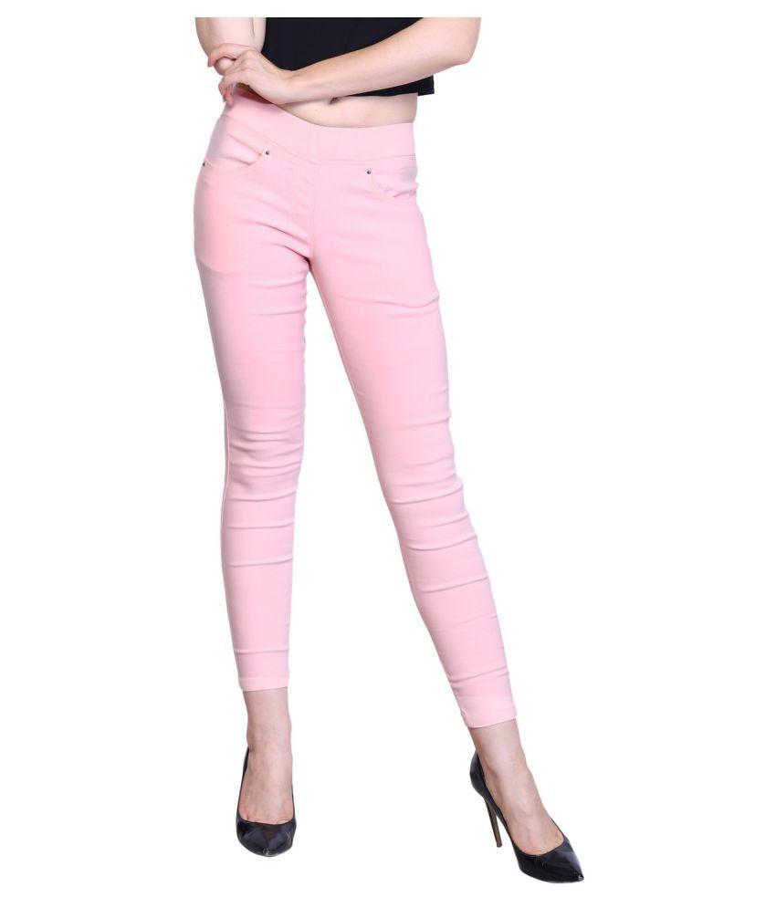 Westwood Cotton Lycra Jeggings - Pink