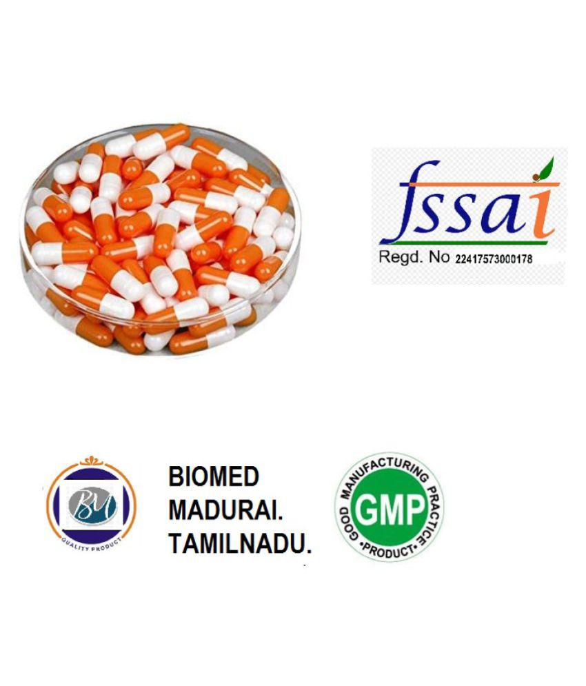 BioMed Empty Gelatin capsules (orange and white) Capsule 1000 no.s