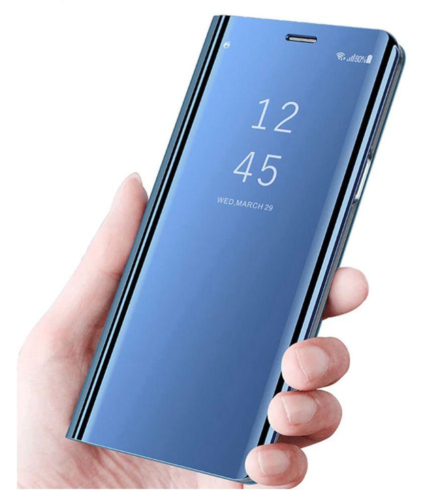 new concept 16b05 d6ed3 Xiaomi Redmi Note 5 Pro Flip Cover by FineDeal - Blue