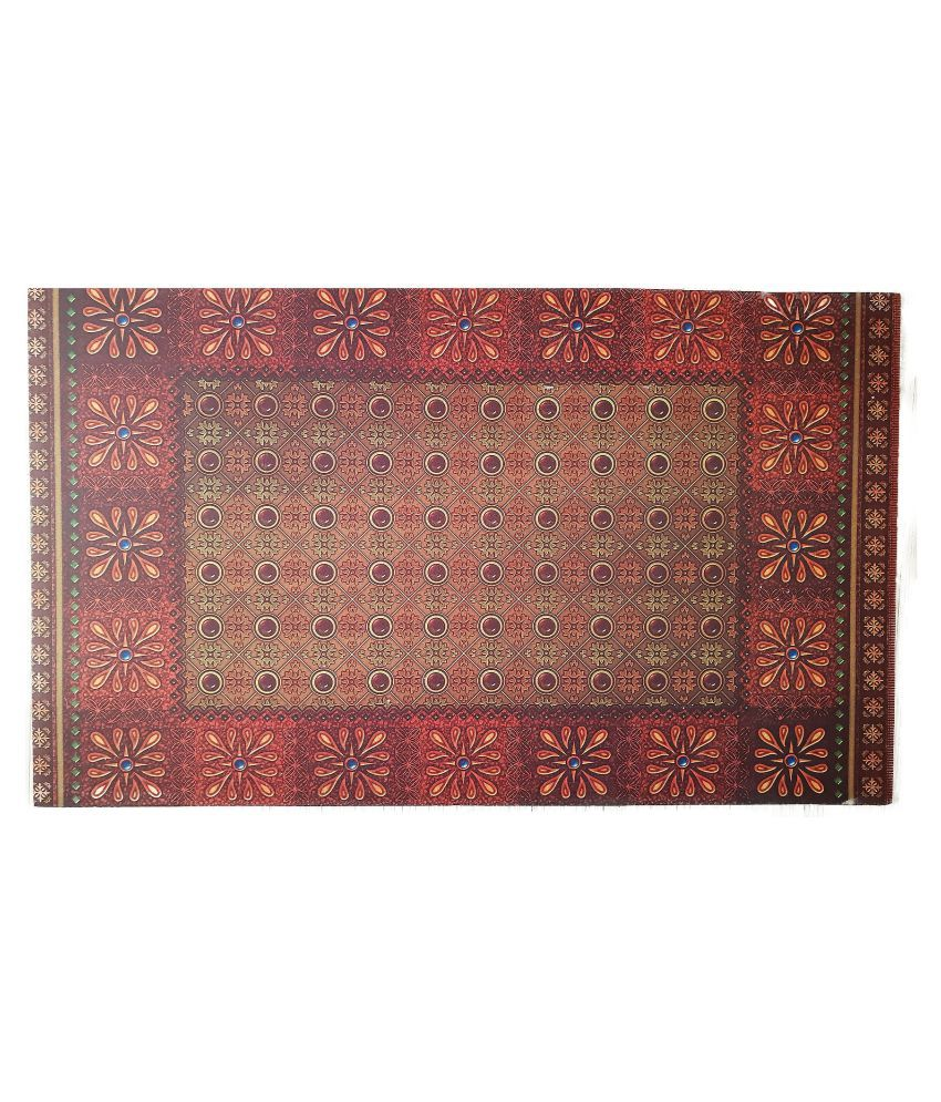 Banjaari Bazaar Red Single Anti-skid Floor Mat