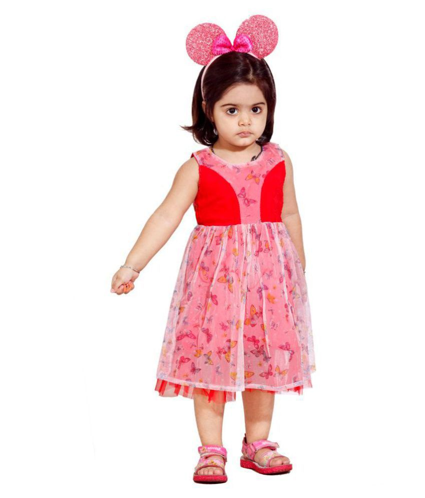 HUSBHI RED AND WHITE FROCK FOR LITTLE GIRL Buy HUSBHI RED AND