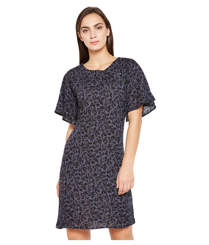 Oxolloxo Viscose Black A- line Dress
