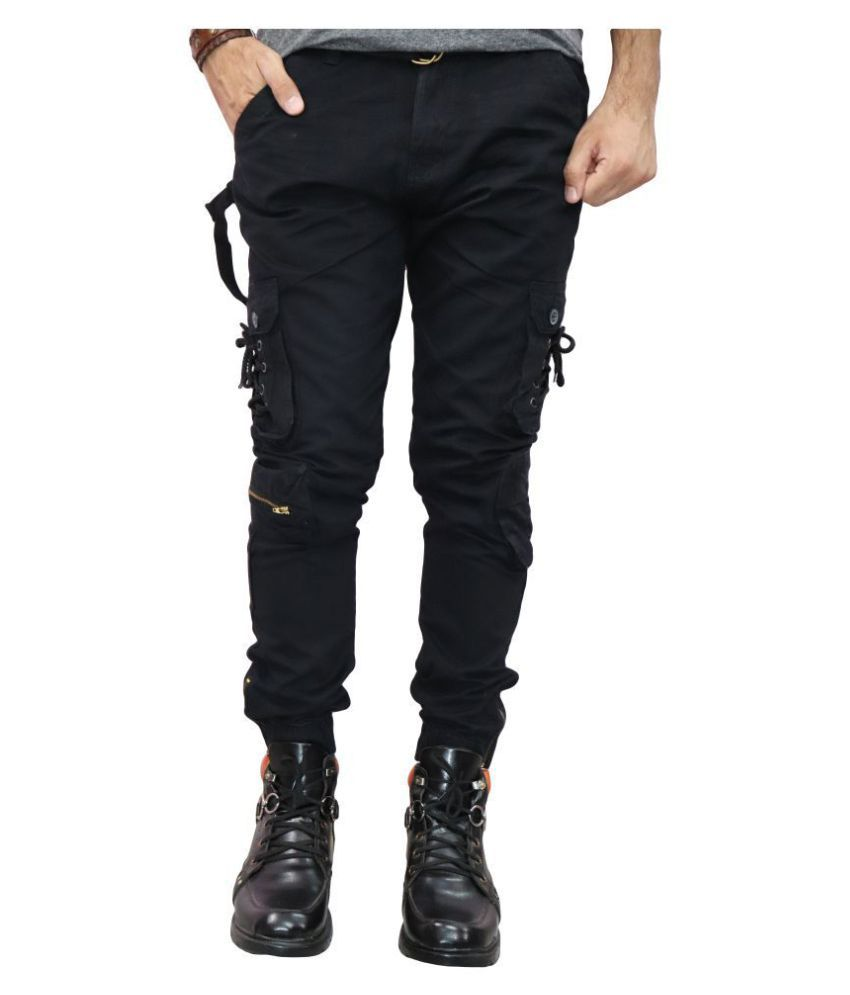 Urban Legends Black Regular -Fit Flat Cargos