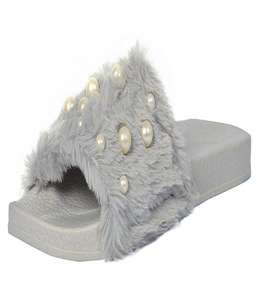 vaniya shoes Gray Slippers