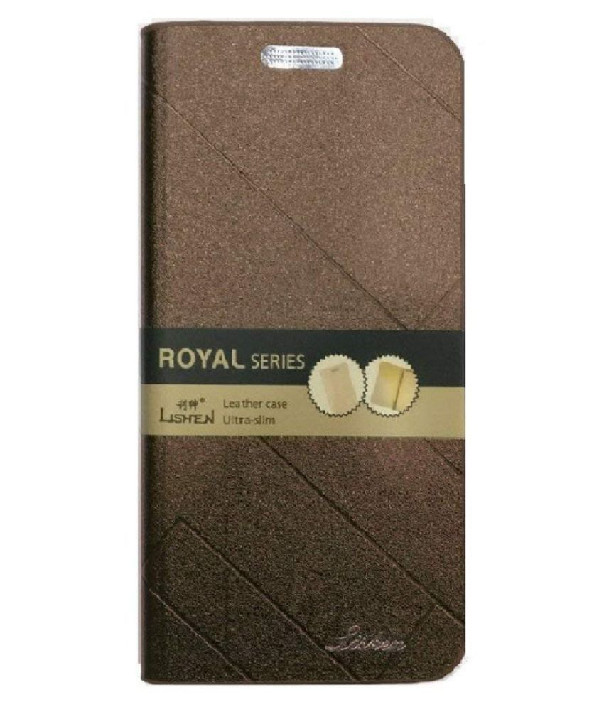 Samsung Galaxy J8 2018 Flip Cover by VinyakMobile - Brown Lishen Flip Cover