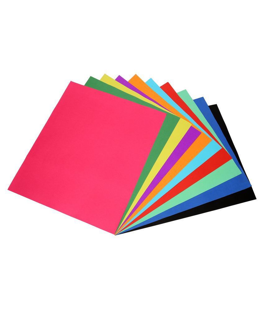 Full Chart Paper Size 70 X 56 Cm Premium Quality Both Side Colored Multi Use Pastel Craft Paper 300 Gsm 10 Vibrant Colors