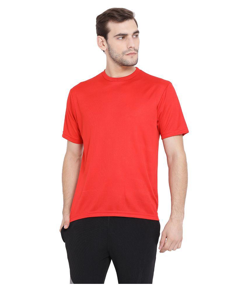 Swiss Military Red Half Sleeve T-Shirt