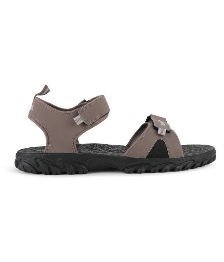 4da31589e Reebok Brown Faux Leather Floater Sandals - Buy Reebok Brown Faux Leather Floater  Sandals Online at Best Prices in India on Snapdeal