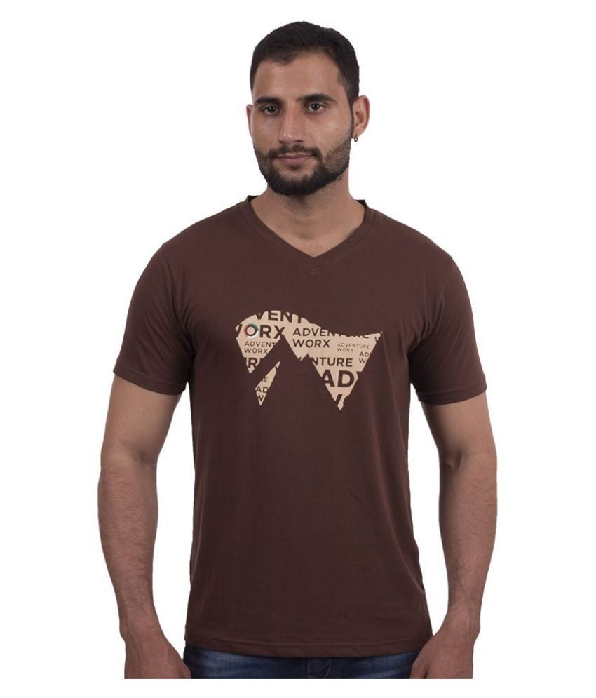 AdventureWorx Brown Half Sleeve T-Shirt