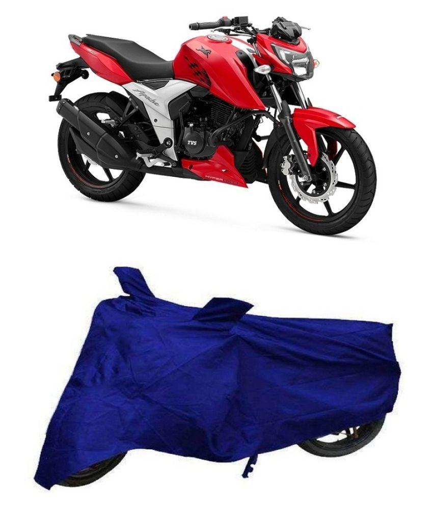 De Autocare Blue Matty Bike Body Cover for TVS Apache RTR 160 4V