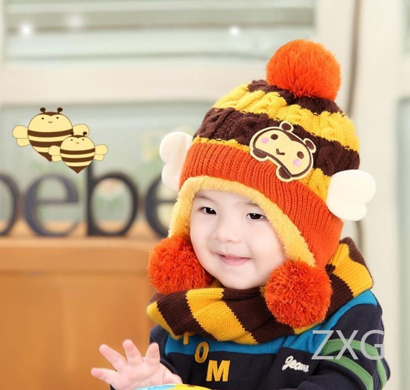 09e7c50e Kids Hats Cute Cap For Girls Boys Children Winter Hat Thick Baby Hat Infant  Toddler Warm Cap Best Gifts: Buy Online at Low Price in India - Snapdeal