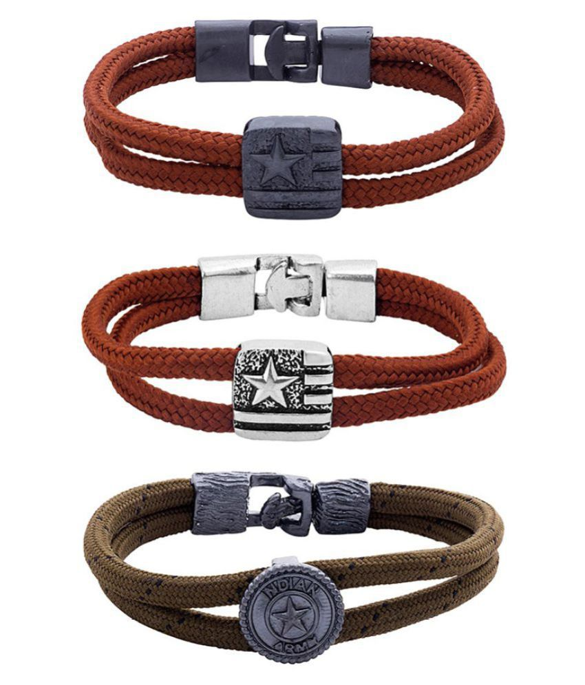 Dare by Voylla Combo of Stylish Wrap Bracelet from Squad Collection
