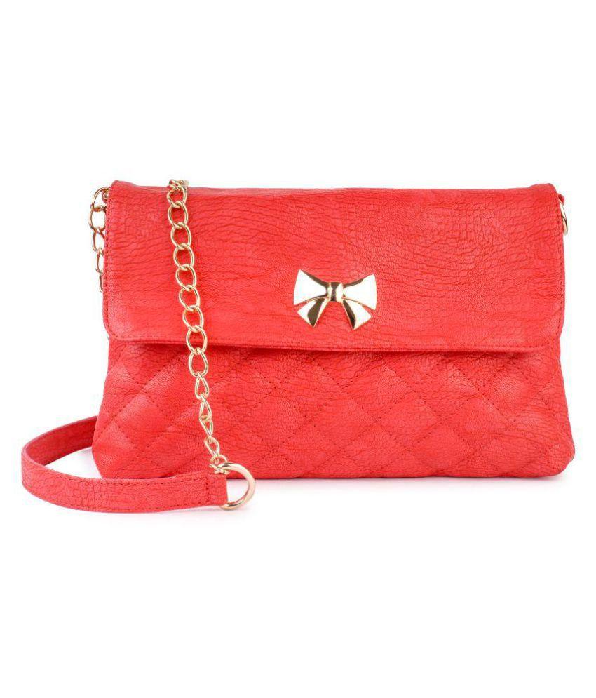 Lychee Bags Red P.U. Sling Bag