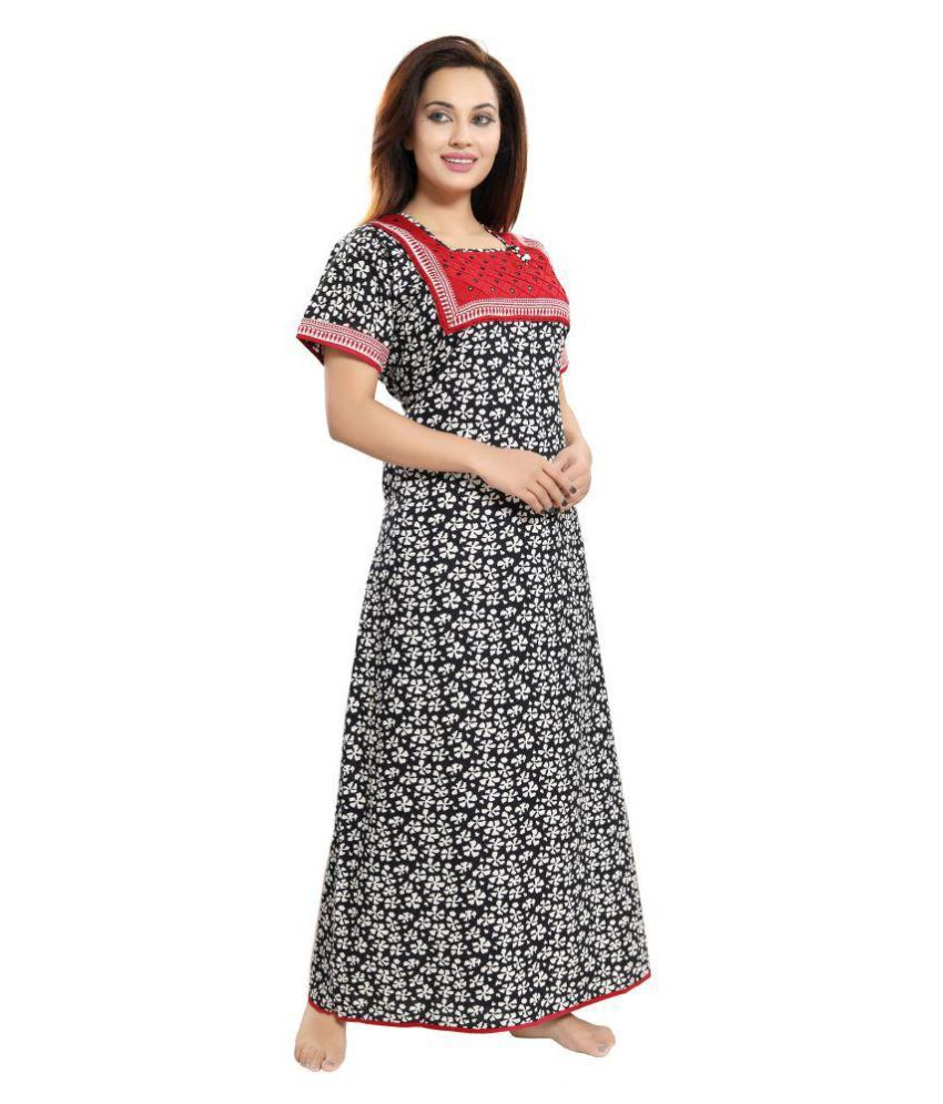 Jyoti Prints Cotton Nighty & Night Gowns - Multi Color