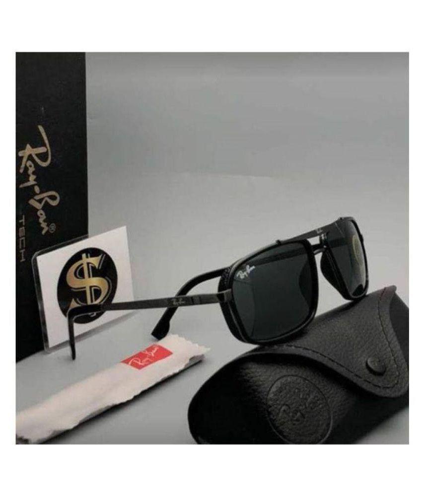 TRENDY CLASSIC Black Square Sunglasses ( 085 )