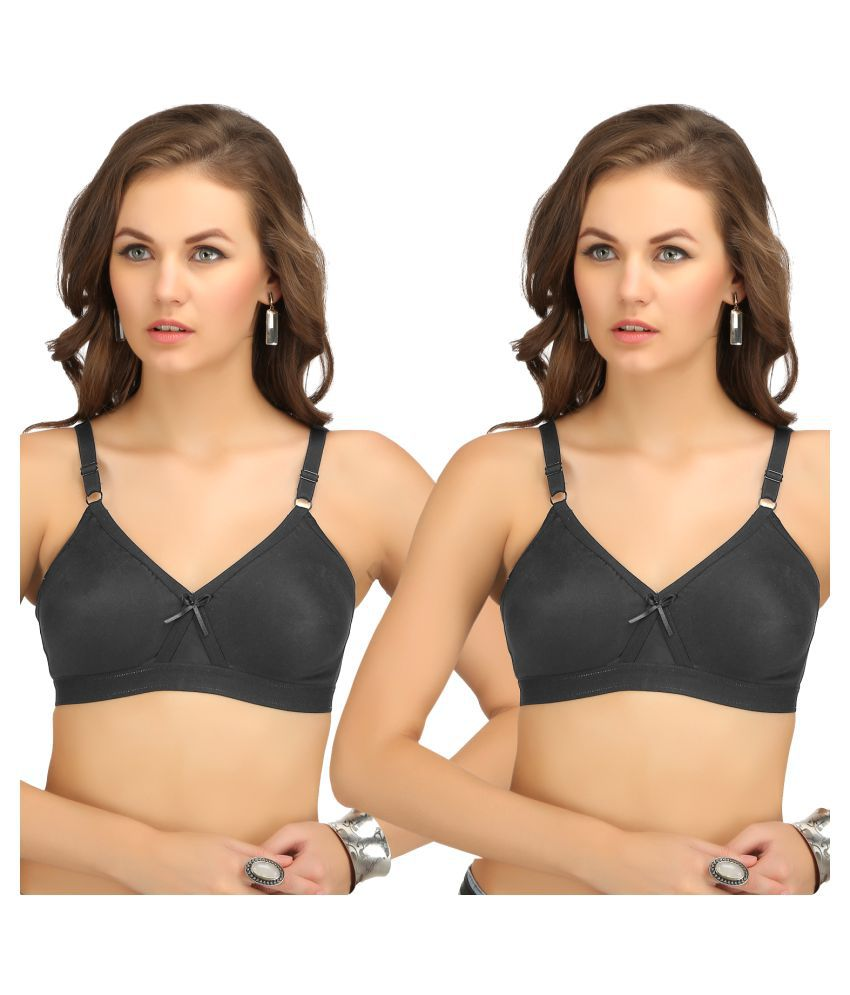 Sona Cotton T-Shirt Bra - Black