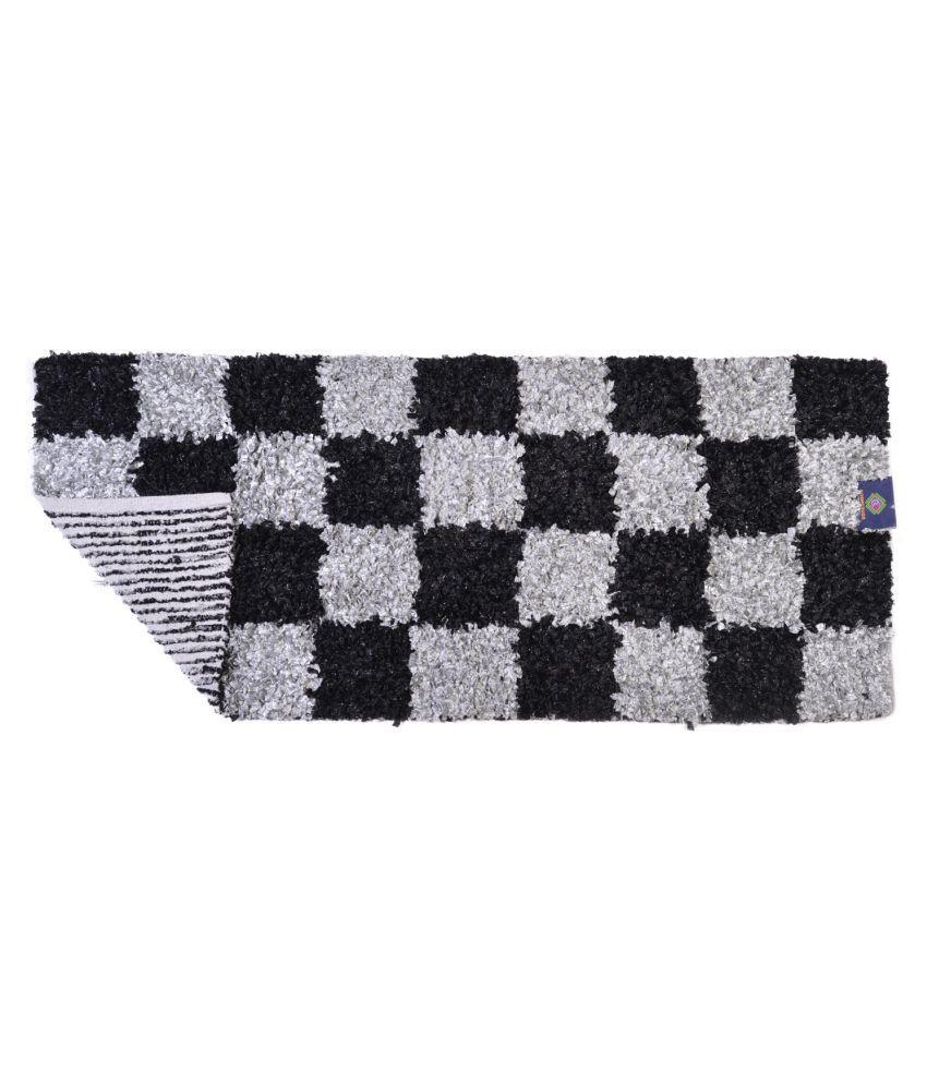 Cosmorugs Gray Runner Single Cotton Checks