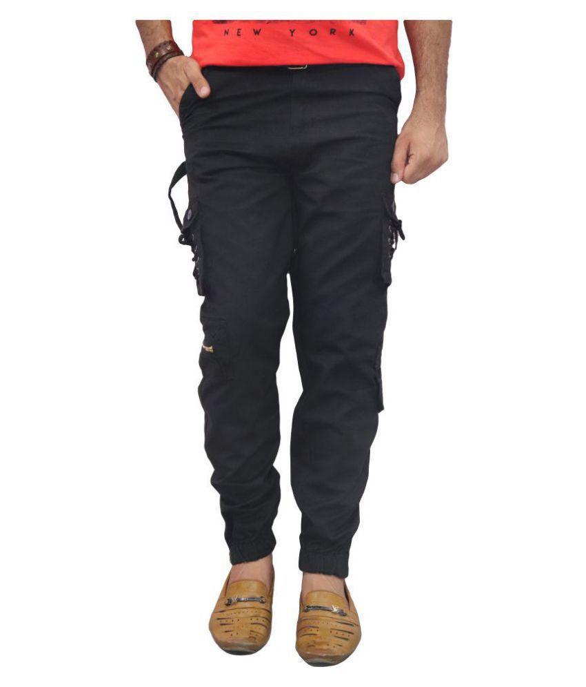 POOL CLUB Black Regular -Fit Flat Chinos