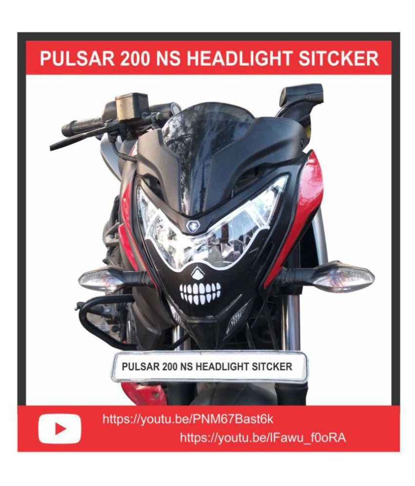 Pulsar 200 ns head light monster face bike sticker buy pulsar 200 ns head light monster face bike sticker online at low price in india on snapdeal