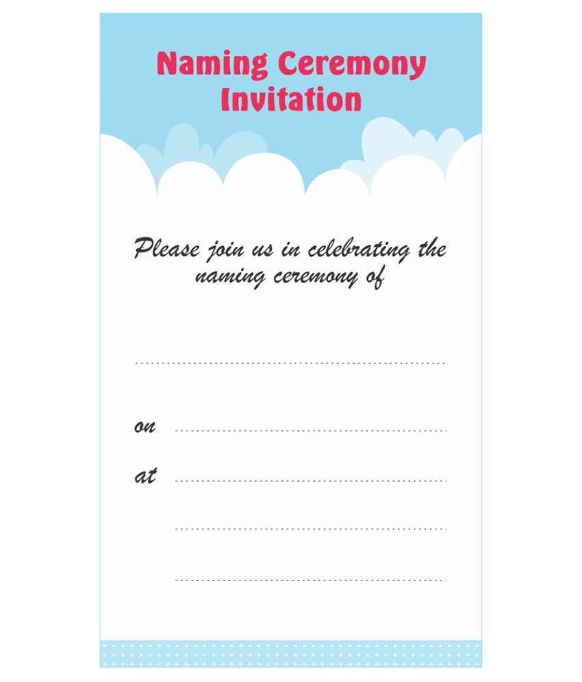 Naamakaran/ Naming Ceremony Themed Pack of 36 cards- Fill in Style