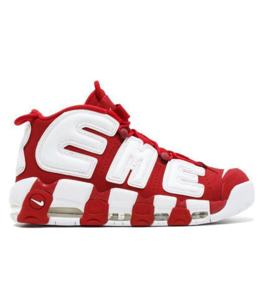 official photos 7998c 246b9 ... Nike Air More Uptempo X Supreme Red Basketball Shoes ...