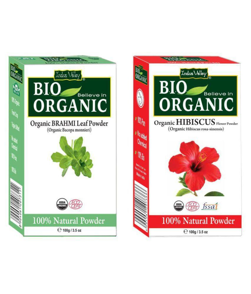 Indus Valley Brahmi Hibiscus Powder For Rejuvenates Makes Hair