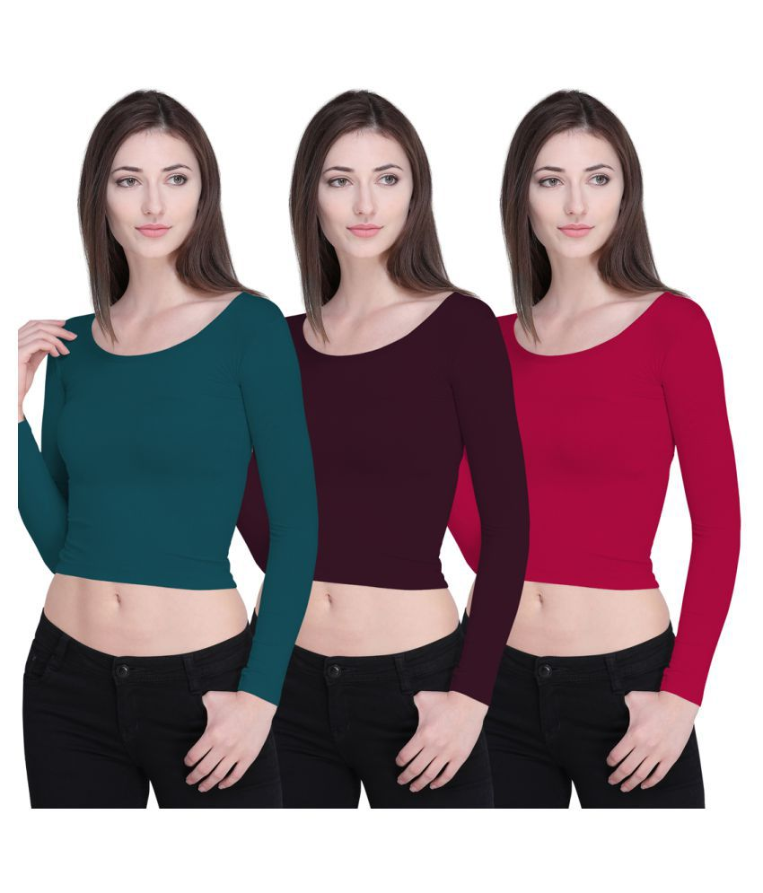 1587c0540aae Ziya Cotton Crop Tops - Multi Color - Buy Ziya Cotton Crop Tops - Multi  Color Online at Best Prices in India on Snapdeal