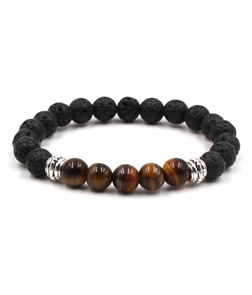YOLO White Beaded Bracelets Simple Classic Stone Bead Charm Bracelets & Bangles For Men/Women Jewelry Gift Fashion Geometric