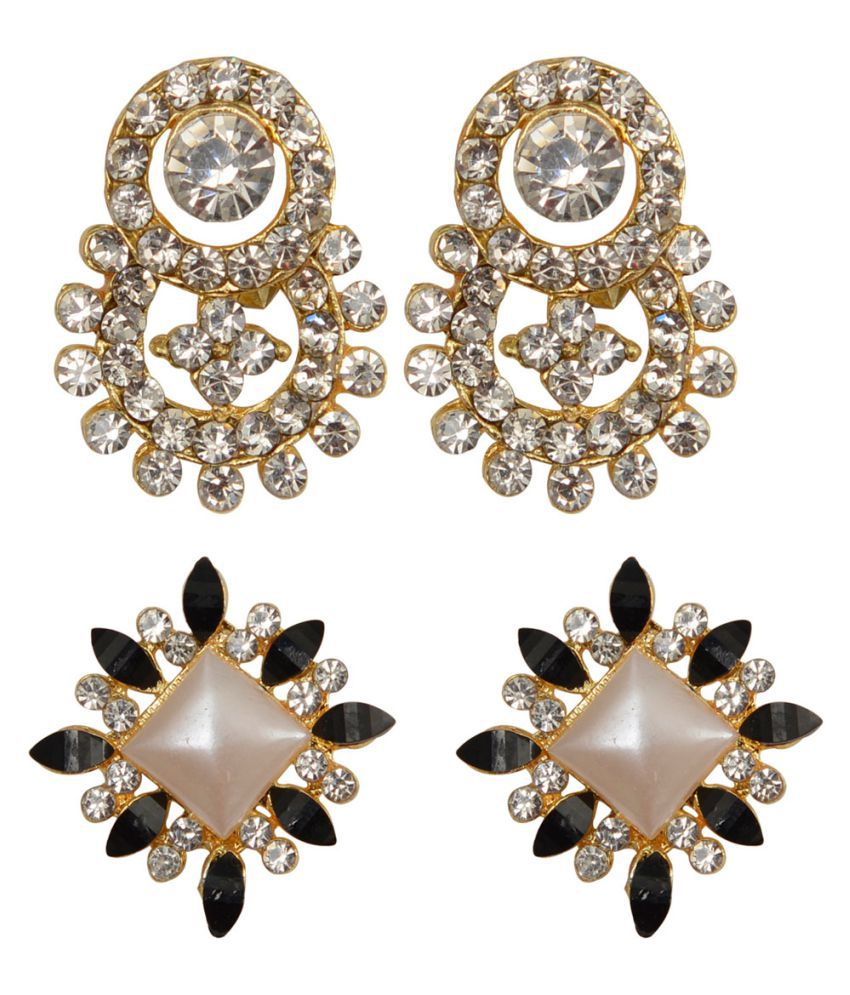 Taj Pearl Designer 2 pairs Stud earrings