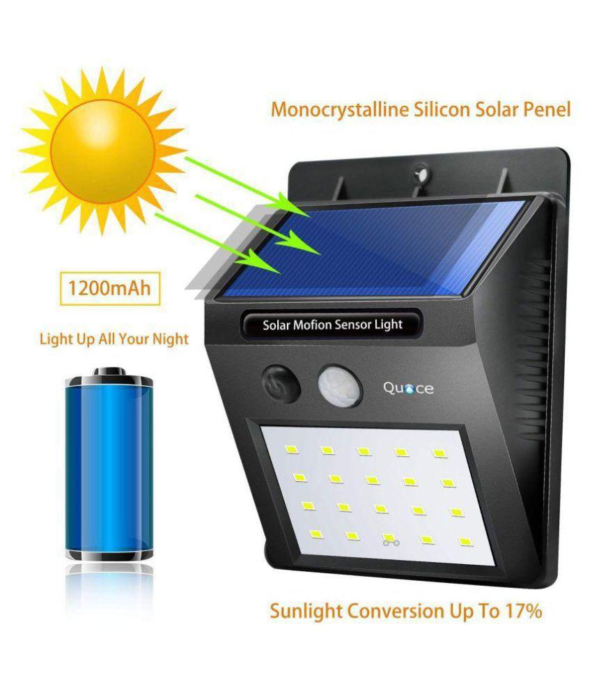Everything will get 0.5W Emergency Light Weather Resistant 20 LED Motion Sensor Solar Light Black - Pack of 1
