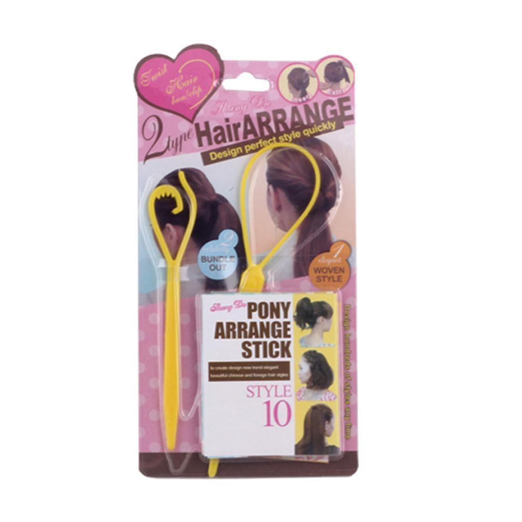 2PCS Large Home Salon Hair Control Pony Hair Stick Hair Accessories
