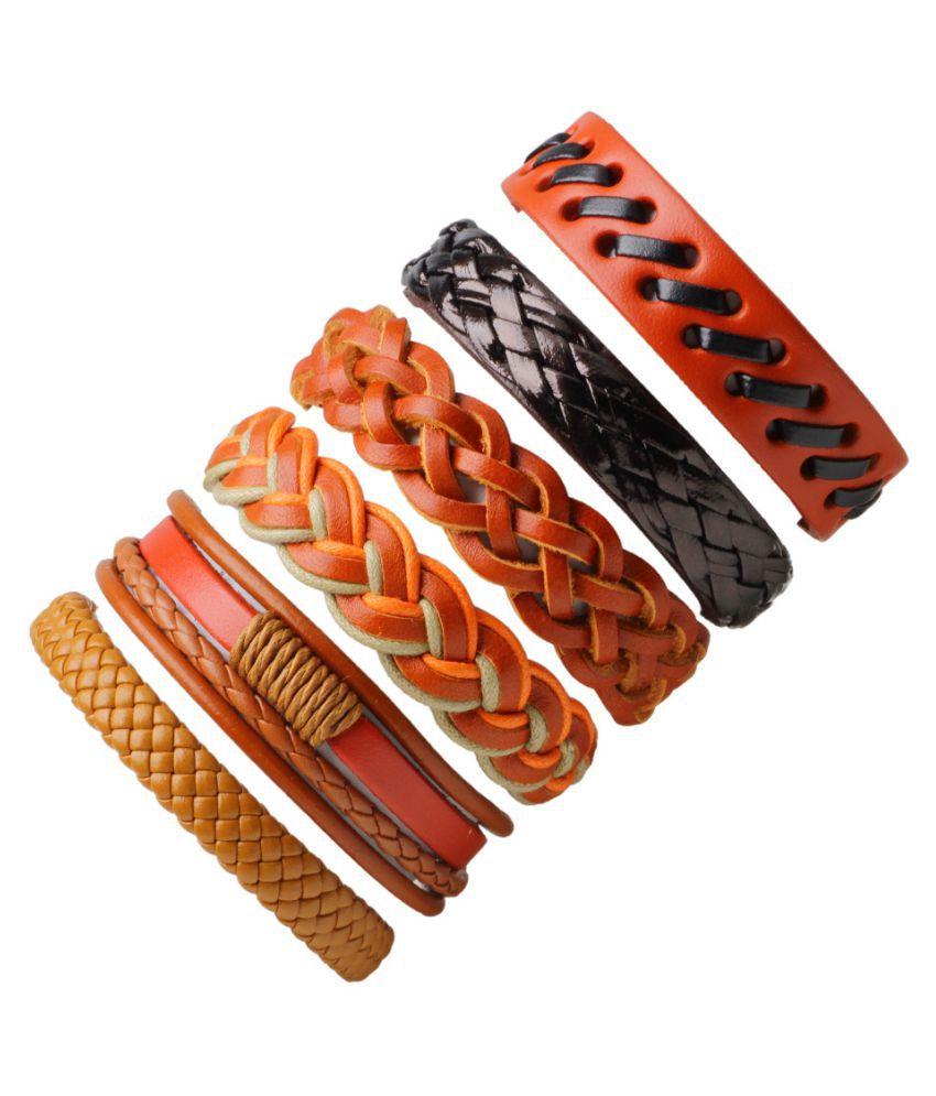 efb911d14d951 YOLO 1 PC Multi Color Leather Bracelet Men's Retro Punk Casual ...