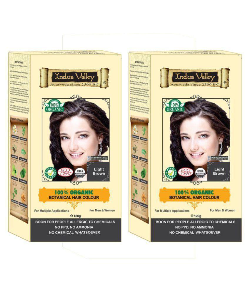 Indus Valley Hair Fibers Light Brown 240 gm Pack of 2