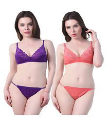 Zaambia Cotton Bra and Panty Set