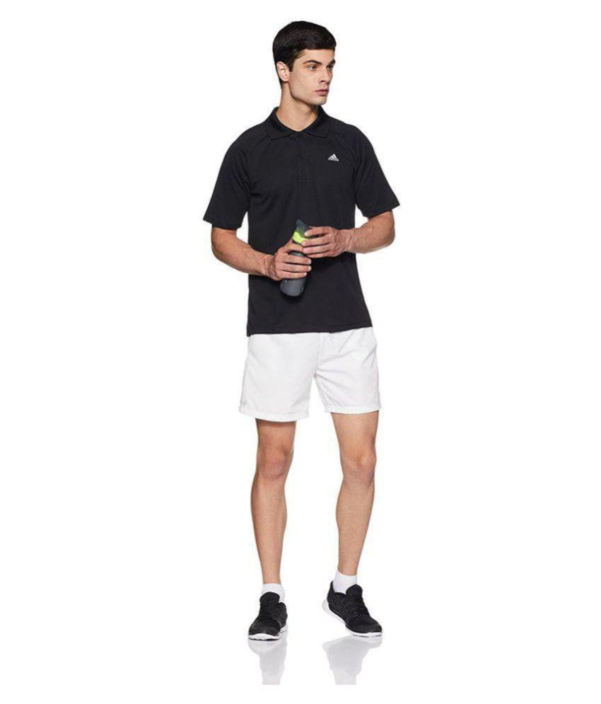 09ba6ac93 Adidas Black Regular Fit Polo T Shirt - Buy Adidas Black Regular Fit ...