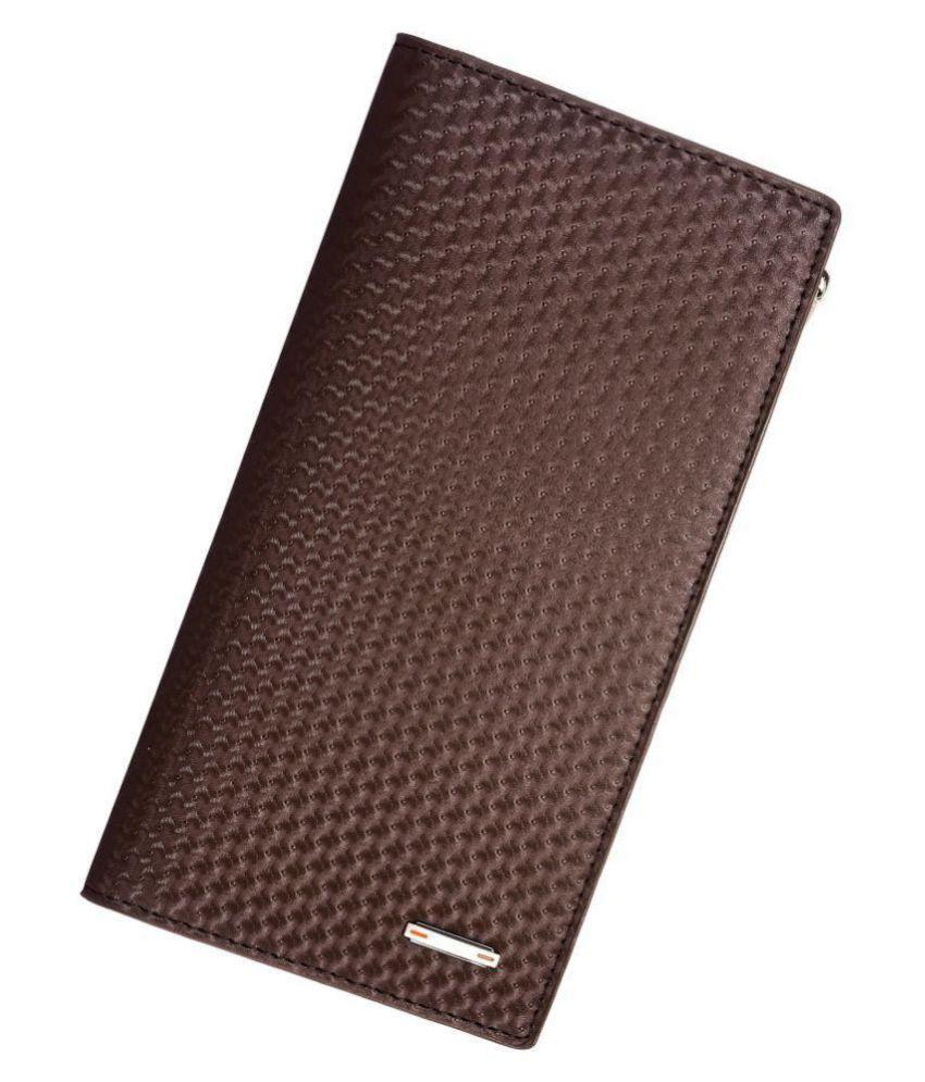 Elios Brown Faux Leather Handheld