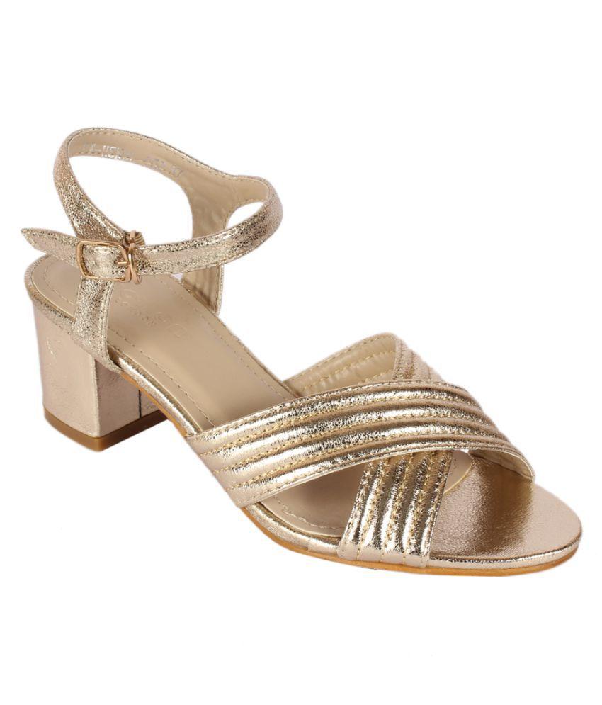 Notion London Gold Block Heels