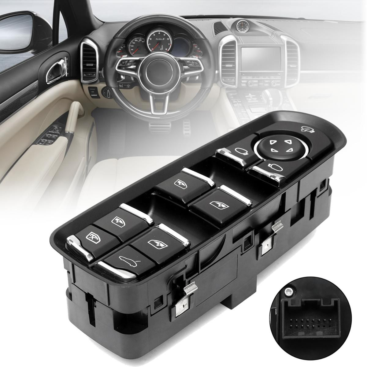 New Front Driver Left Electric Door Window Master Switch For Panamera Cayenne
