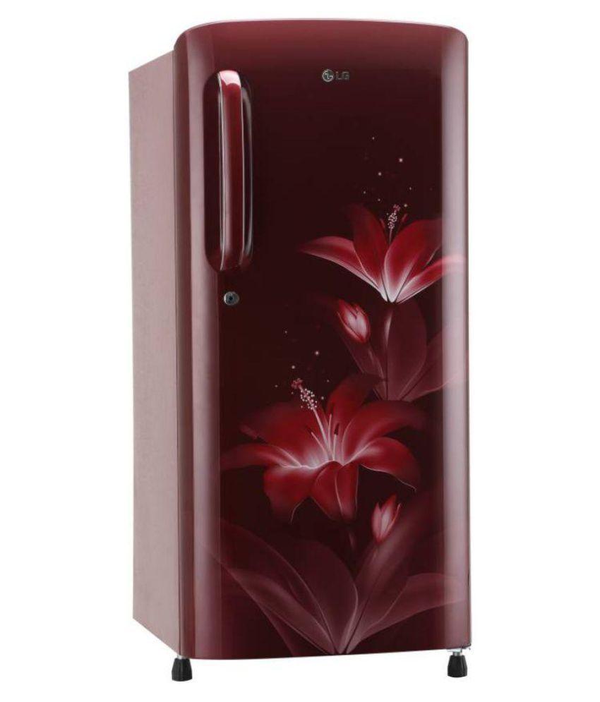 LG 190 Ltr 4 Star GL-B201ARGX Single Door Refrigerator - Red