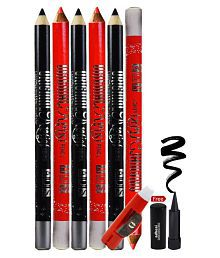 ADS Rich Color Eye & Lip Liner Pencil Multicolor 2 gm Pack of 6