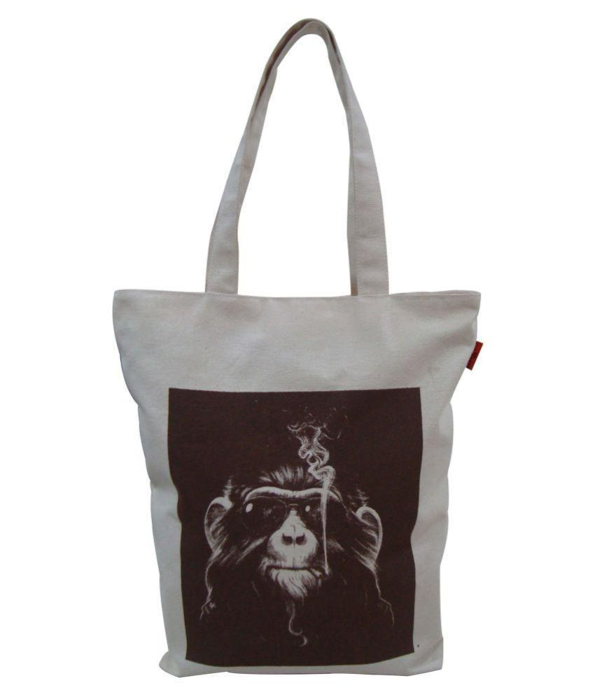 Angesbags Black Canvas Tote Bag