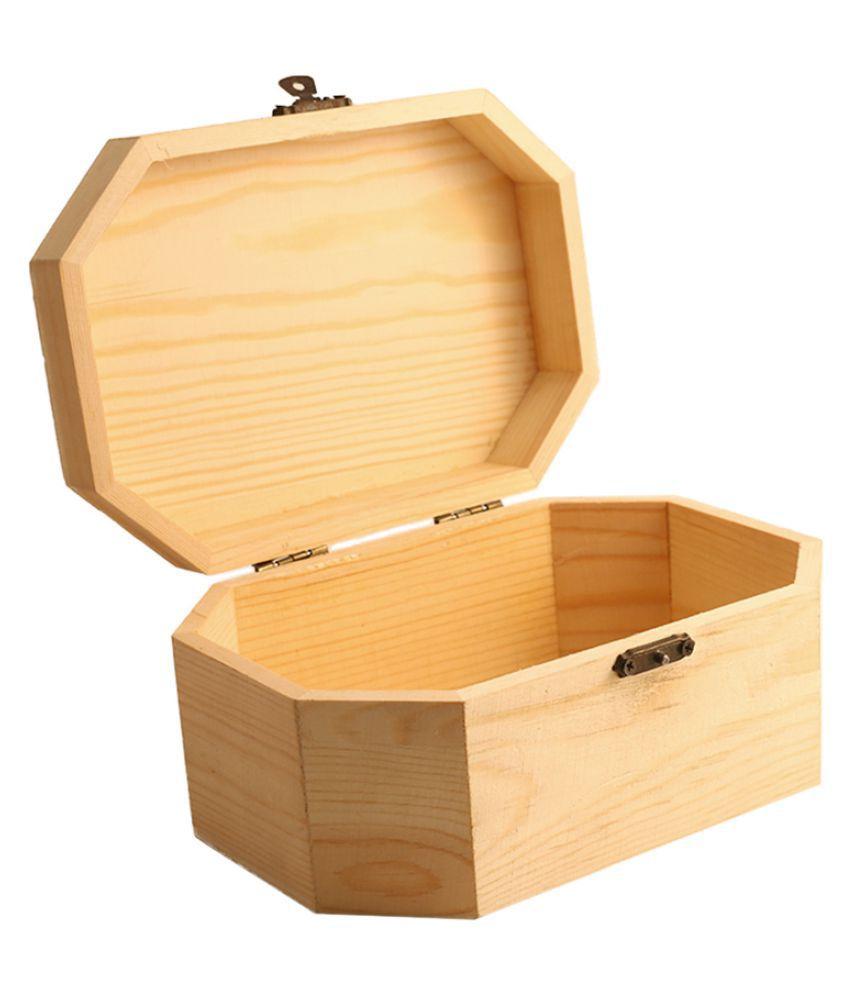 Creative Jack Wood Jewellery Storage Box 1 Big Wooden Jewellery Box for Women Jewel Organizer Gift Items Home Décor